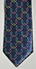 Necktie by Eleyanza Uomo Bule & Other Colours 100% Silk. See 8 Pictures