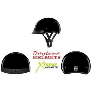 Daytona Skull Cap Jr Kids Youth Half Helmet Motorcycle DOT S M L