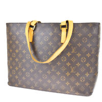 Auth LOUIS VUITTON Luco Tote Shoulder Bag Monogram Leather Brown M51155 86MG753