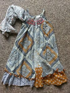 Gorgeous Strappy, Full Maxi Dress & Scarf from Next Signature age 7 NEW