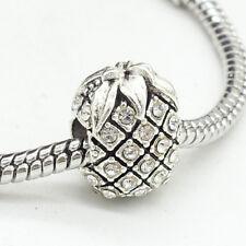 1pcs Silver pineapple European Charm Beads Fit 925 Necklace Bracelet  DIY B143