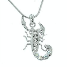 Swarovski Crystal Chain Pendant Jewelry Scorpion Desert King Insect Made With