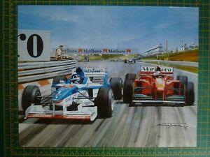 1997 Damon Hill Arrows Hungarian Grand Prix F1 GP Motorsport Art Print n Senna