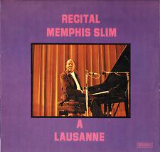 """MEMPHIS SLIM """"LAUSANNE RECITAL"""" BLUES 70'S LP MUSIDISC CV 1289"""