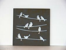 WALL ART DECOR birds metal cut out  NEW rust  indoor outdoor  .lovely
