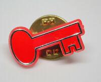 Red Antique Skeleton Key Retro Vintage Lapel Pin