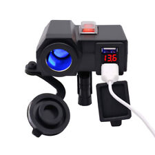 12V Motorbike Motorcycle GPS sat nav USB Charger Power Adapter Socket Waterproof
