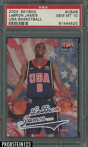 2004 Skybox USA Basketball #USAB LeBron James RC Rookie PSA 10 GEM MINT