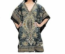Ladies Caftan Short Dress Beach Wear Casual Grey Kaftan UK SIZE16,18,20,22,24
