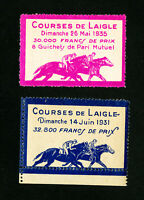 France Stamps Horse Labels Lot of 2x 1935