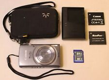 CANON POWERSHOT ELPH 160 20.0 MP DIGITAL CAMERA - SILVER - W/ EXTRAS