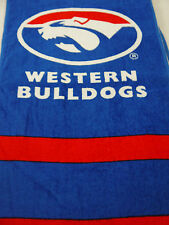 Western Bulldogs AFL Team Hand Towel 2 Pack 33cm X 72cm Licenced Product