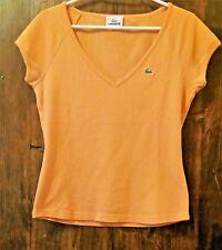 LACOSTE  donna arancione taglia 36 FR DEVANLAY vintage maglietta t shirt maglia
