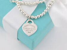 Tiffany & Co Silver Bead Return To Tiffany Necklace Pouch Included