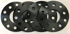 ALLOY WHEEL SPACERS 5mm X 4 BLACK DIRECT 65.1 FOR 5X110 VAUXHALL