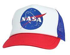 NASA insignia retro logo Hat adjustable snapback Mesh Cap science space fan gift