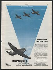 1943 WWII REPUBLIC AVIATION P-47 Thunderbolt WW II WW2 Aircraft War Plane AD