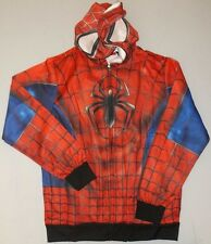SPIDER-MAN COSTUME SUBLIMATED HOODIE SWEATER JACKET MENS ADULT MARVEL L LARGE