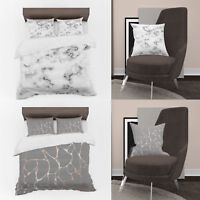 3D Photo Print Black Marble Designs Digital Duvet Cover & Cushion Covers Case