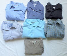 Lot of 7 Dress Casual Shirts Men L XL XXL Long Sleeve Banana Rep Van Heusen Kirk