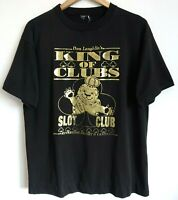 Vtg 90s King of Clubs Slots GOLD LION Riverside Casino Surf Skate T-Shirt L XL