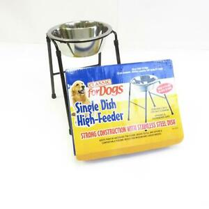 Classic For Dogs Single Dish High Feeder Hygienic Easy to Clean Dishwasher Safe