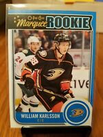 2014-15 O-Pee-Chee William Karlsson #U26 Marquee Rookie Anaheim Ducks