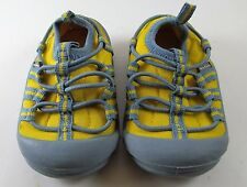 Oshkosh 2 M infant baby shoes yellow gray sport pull-ons athletic Play Casual