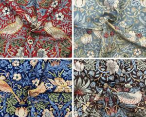 William Morris Strawberry Theif Curtain Fabric, Material 137cm width
