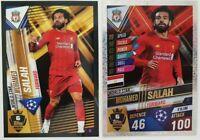 2020 Mo Salah 100 Club Soccer Card World Star W6 Liverpool Match Attax 101