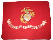 Usmc Marines Marine Corps Eagle Globe Fleece Blanket Throw & 3x5 Flag Gift Set