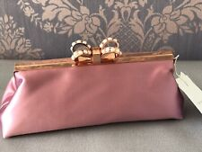 TED BAKER Women's GEORGAA Pearl bow Satin Clutch wedding evening Bag RRP £99