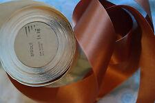 "10 yard 1 5/8"" wide roll copper Brown orange trim vintage satin ribbon trim hat"