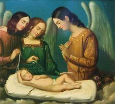 Stobwasser Gustav attr. Biedermeier Berlin um 1840 drei ENGEL Christkind Jesus