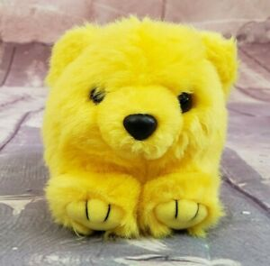 """Puffkins Buttercup Yellow Bear 4"""" Plush Stuffed Animal with Tag Vintage"""