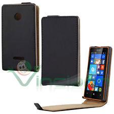Custodia Flip cover verticale NERA interni MAR. pr Microsoft Lumia 435 532 Nokia