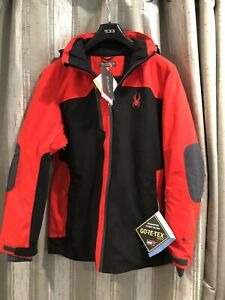 NEW Spyder Men's Whistler GORE-TEX Ski Snow Jacket Medium Red