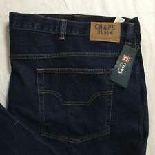 Chaps Jeans Mens 50Bx32 Lead Table Dark Blue Straight Leg Big&Tall NWT