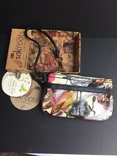 SAKS ROOTS Natural Peace Artist Circle Wristlet New with tags box Style 104994