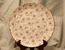 Royal Tuscan Fine Bone China England Pink Floral Luncheon Plate