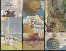 Switzerland covers 1909 6 special PPCs Gordon Bennet in original folder