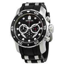 Invicta Men Pro Diver Ocean Master Chronograph BlackmDial Black Rubber Watch