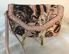 Jessica Simpson Wrist Clutch Purse/bag Dusty Rose/Pink Black White Flowers New