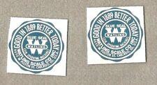 Watling water slide decals pair not sticker for antique slot machine restoration