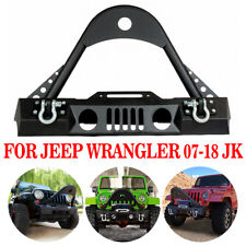 07-18 Jeep JK Wrangler Stinger Front Bumper OE Fog Light Hole & w/Winch Plate A