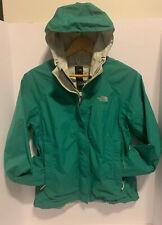 THE NORTH FACE Women's Medium Venture Green Hood Rain Coat Jacket ZIP Packable