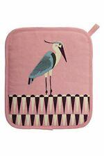 Heron Pot Holder. Cotton fabric. Kitchen. Birds. Mitt. Oven Glove