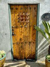 Late 19th C Vintage Spanish Walnut front door