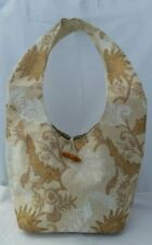 Jute Floral Medium Handbags