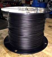 14 Gauge Underground Pet Fence Wire 45mil LD PE Solid 1500ft Black dog safety